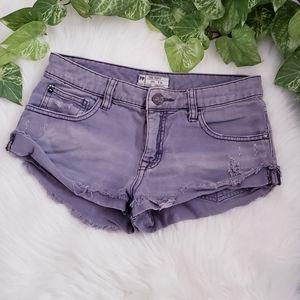 Free People Distressed Denim Shorts Size 24